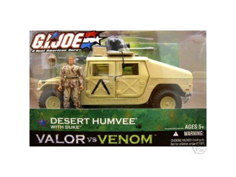 G.I. Joe Desert Humvee/Duke| DTC Night Ops Vehicle | 2004 Valor Venom VvV (POC 30th Arah 25th)