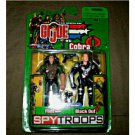 Gi Joe Spy Troops 2-Pack: Night Force Flint & Cobra Black Out (Sniper) 2003 Hasbro
