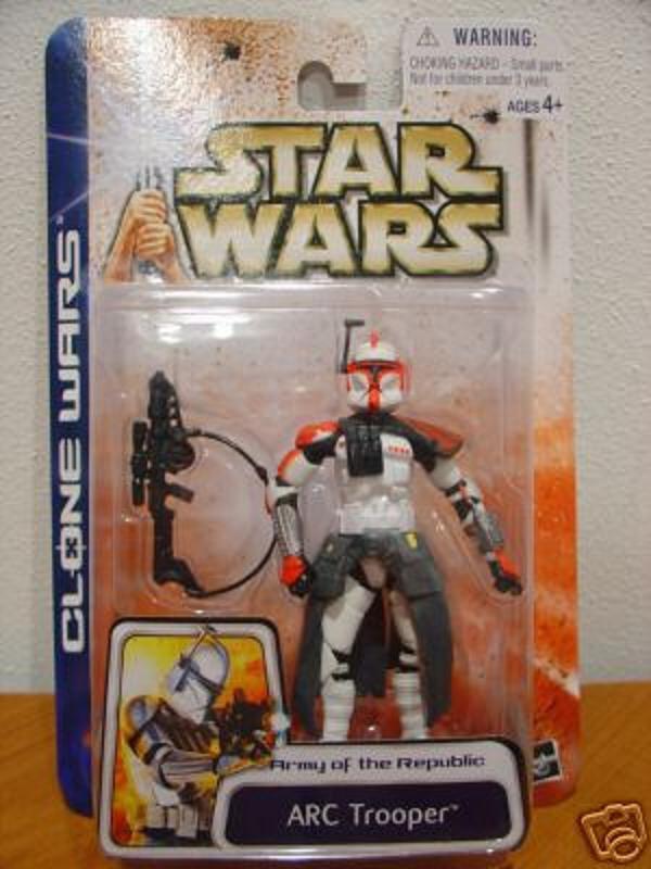 Clone Wars Arc Trooper (Red Variant) Star Wars EU #43, sku 84753 Hasbro 2003