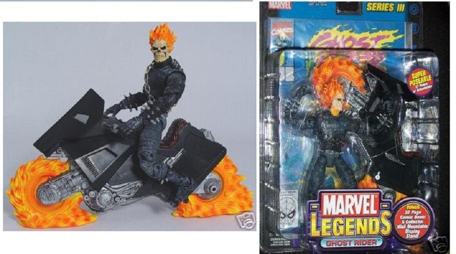 Marvel Legends III Series 03 Ghost Rider & Flame Cycle Toybiz 2002 Figure and Hellcycle