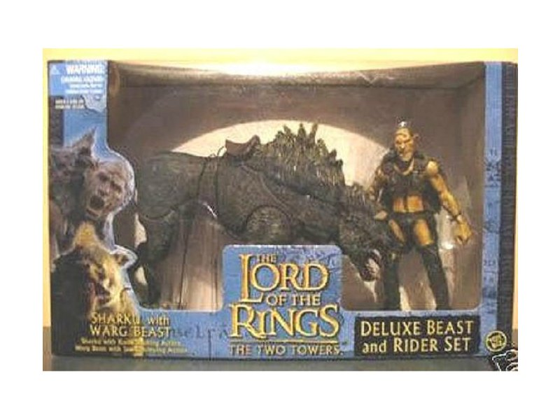 "LOTR Sharku & Warg Deluxe Beast Rider Set 2003 ToyBiz 6"" Gentle Giant Lord of the Rings RotK 81338"