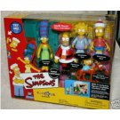 "Simpsons Living Room Playset w/Santa Homer Playmates WoS Environment ""Family Christmas"" 2001 ToysRUs"