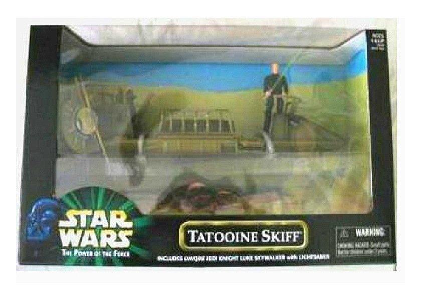 Star Wars POTF: Tatooine Skiff [Variant] + Jedi Luke misb � Vintage Kenner Vehicle - Sarlacc Pit