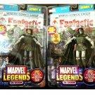 """Marvel Legends: Fantastic Four > Dr. Doom Variant 2pc Set Doombot, Series 2 Toybiz 6"""""""