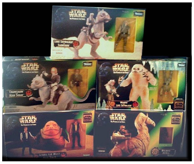 Star Wars SE PotF Collection Kenner set: Han TaunTaun Luke Wampa Jabba Ronto 1997 1998