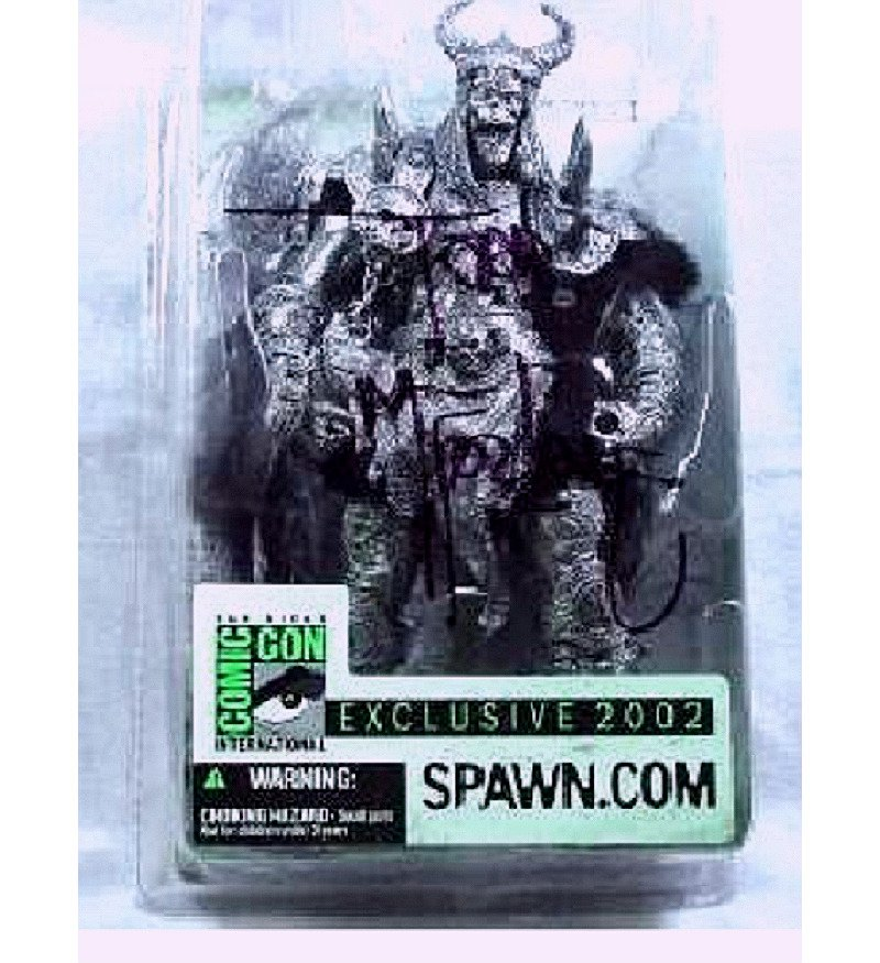 Signed McFarlane 2002 SDCC Special Edition Spawn Dark Ages Viking Bloodaxe Figure [Pewter Variant]