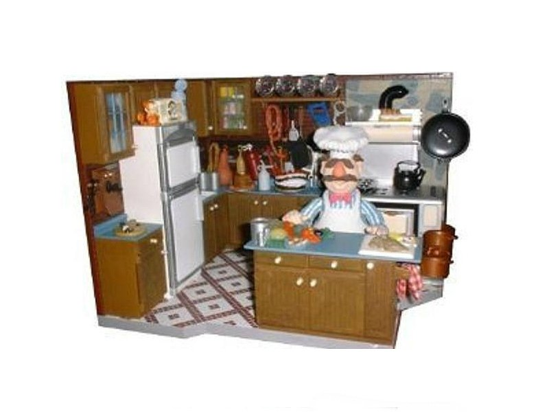 Muppets Deluxe Playset Palisades Swedish Chef Kitchen | Jim Henson Muppet Show Boxed Set