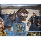 "ToyBiz 81336 LOTR Deluxe Horse & Rider Set: Aragorn Brego 6""  | Four Horsemen Mythic Legions"