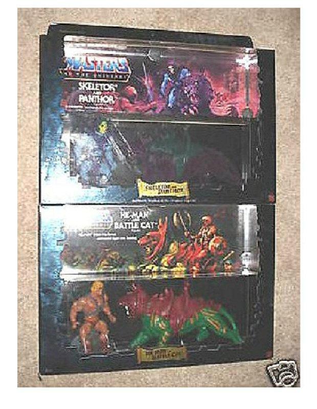 Vtg. He-Man/Battle Cat, Skeletor/Panthor Motu 2-Pack Figure Giftsets MISB [Classic Reissue]