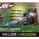 "GI Joe Hasbro Cobra Night Adder (v2) + Wild Weasel, 2005 Valor vs Venom 3.75"" Vehicle Set"