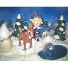 Rudolph & Hermey Misfit Toys Deluxe Talking Playset, Memory Lane-Santa's Xmas Village-Rankin Classic