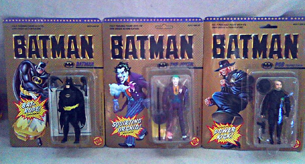 Super Powers Black Batman 1989 Toybiz DC Superheroes [Unpunched] Set � Tim Burton Michael Keaton