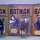 Super Powers Black Batman 1989 Vintage DC Comic Toy Biz Superheroes [Unpunched] Set Burton/Keaton