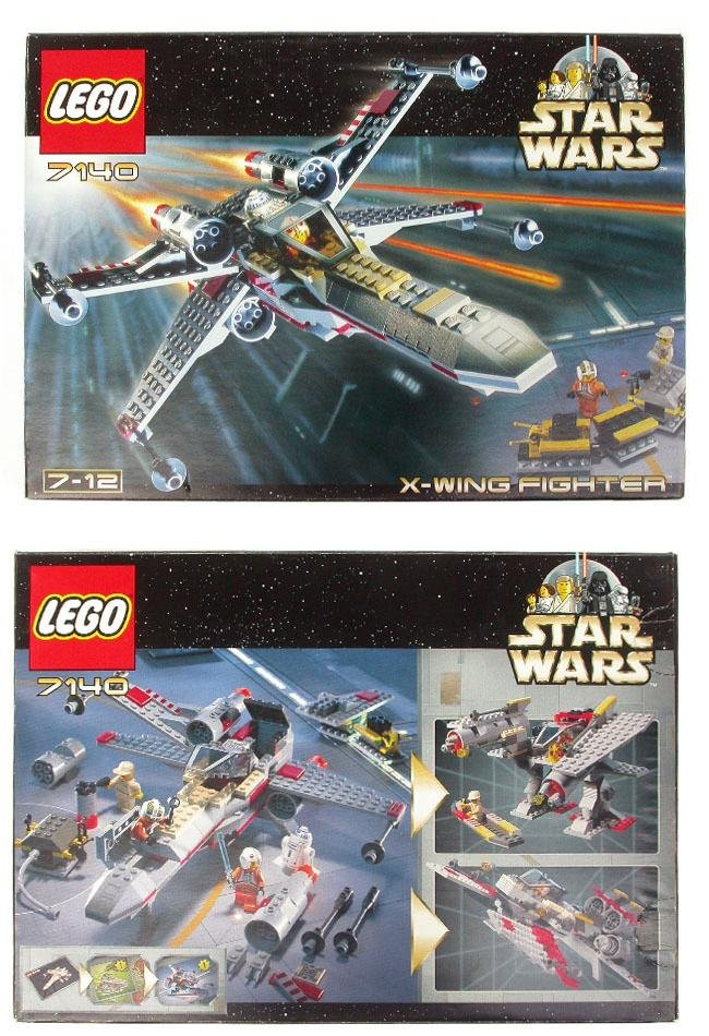 Lego Star Wars X-Wing Fighter Kit 7140 (1st Ed.) MISB Collector Set (1999) Sealed