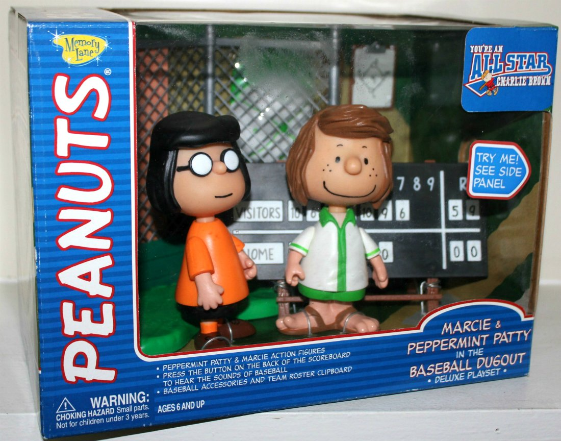 peanuts marcie patty charlie brown all star game baseball