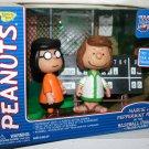 Peanuts Marcie & Patty-Charlie Brown All Star Game Baseball Figurine Playset, Memory Lane 2003 HTF