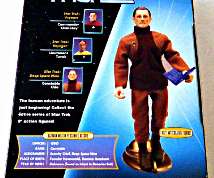 "DS9 Constable Odo Figure w/Tribbles Retro 8"" Star Trek Mego Style Doll Playmates 9in Deep Space Nine"