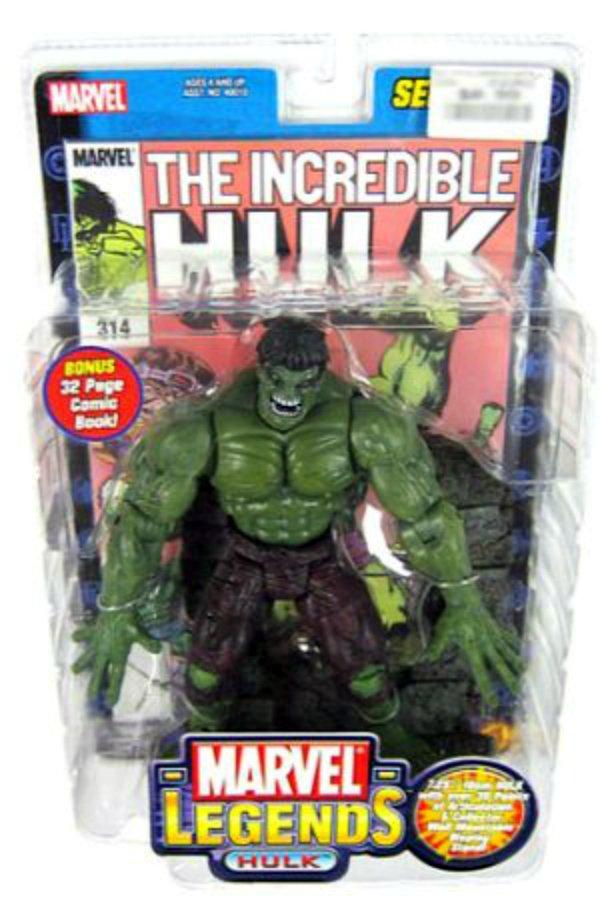 """Marvel Legends Series I (1) Hulk 7""""AF (70s Classic) 40011 Toybiz 2002"""