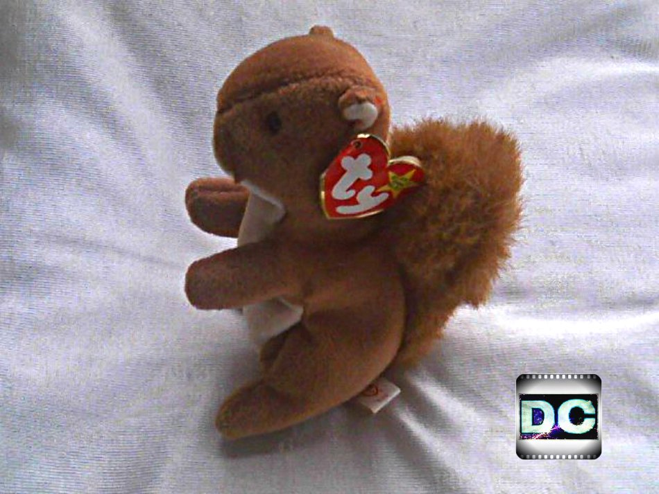 "Ty Beanie Baby Nuts (1996) Plush 6"" Stuffed Animal Toy