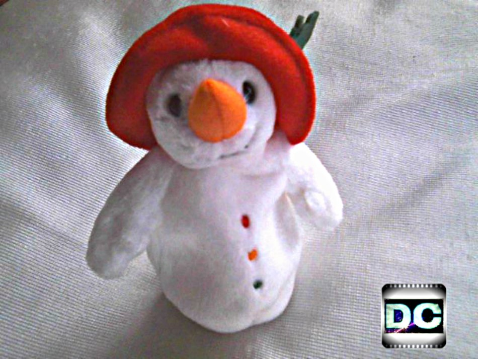 "Ty Beanie Baby Snowman Chillin (2003) Plush 4"" Stuffed Toy 