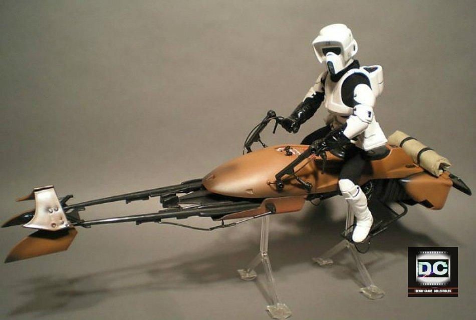 "Star Wars: 24� Imperial Speeder Bike / 1:6 Scout Trooper 12"" figure Kenner ROTJ (Sideshow Hot Toy)"