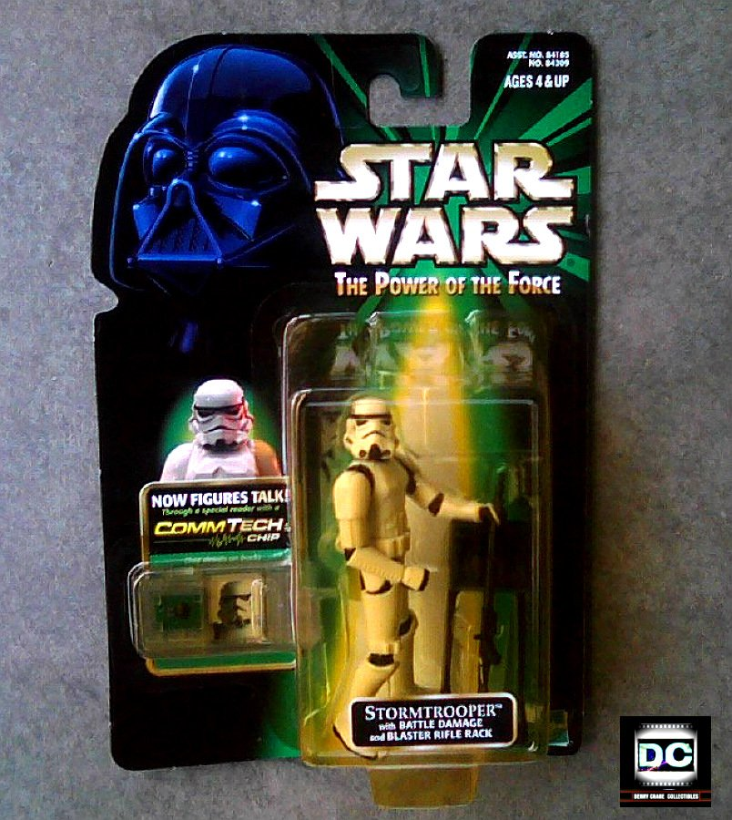 Star Wars POTF 84209: Stormtrooper (Blaster Damage) Commtech MOC