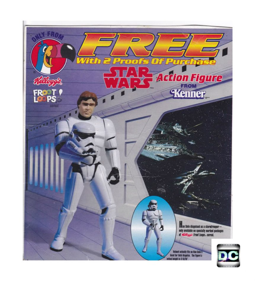 Han Solo (Stormtrooper Disguise) Kenner Vintage Star Wars POTF Mail-In Kellogg's Cereal (FS)
