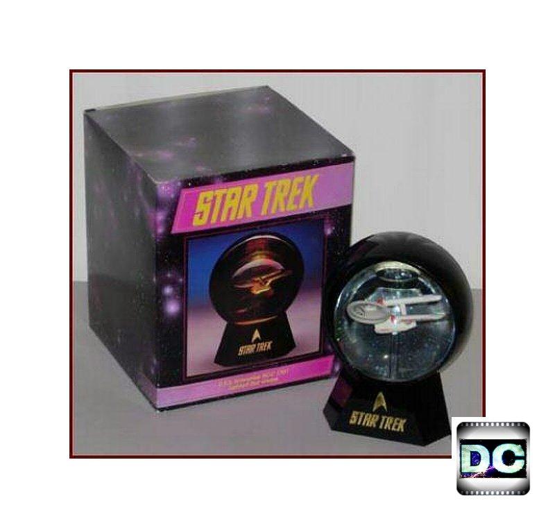 Willitts Xmas Gift Hallmark Keepsake Snowglobe Star Trek Enterprise Ornament Lighted Exclusive