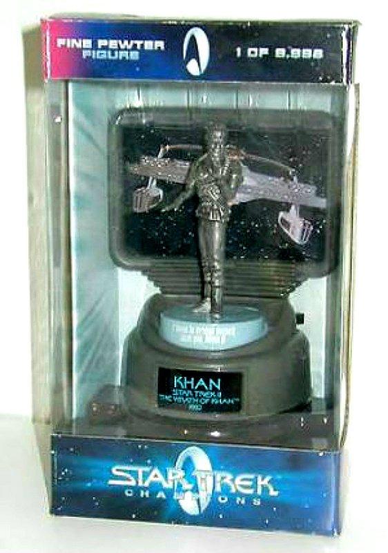 Wrath of Khan (1982) Star Trek pewter sculpture figurine statue w/ USS Reliant