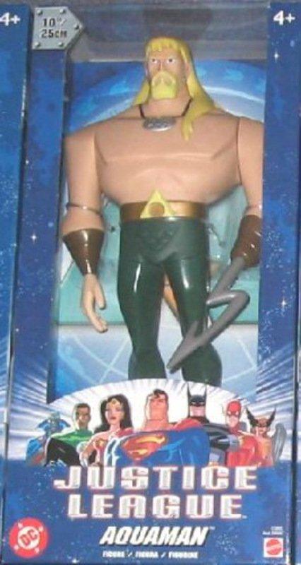 "Aquaman 2003 Animated Justice+League Mattel 10"" JLU vinyl figure statue (DC Universe)"