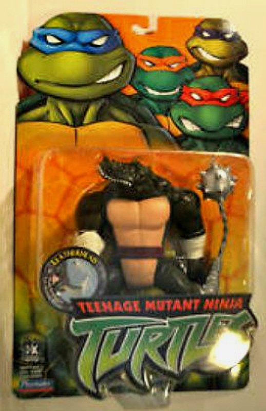"""TMNT Leatherhead #53015 Playmates 5"""" Teenage Mutant Ninja Turtles 2004, 2002 2003 4Kids Series"""