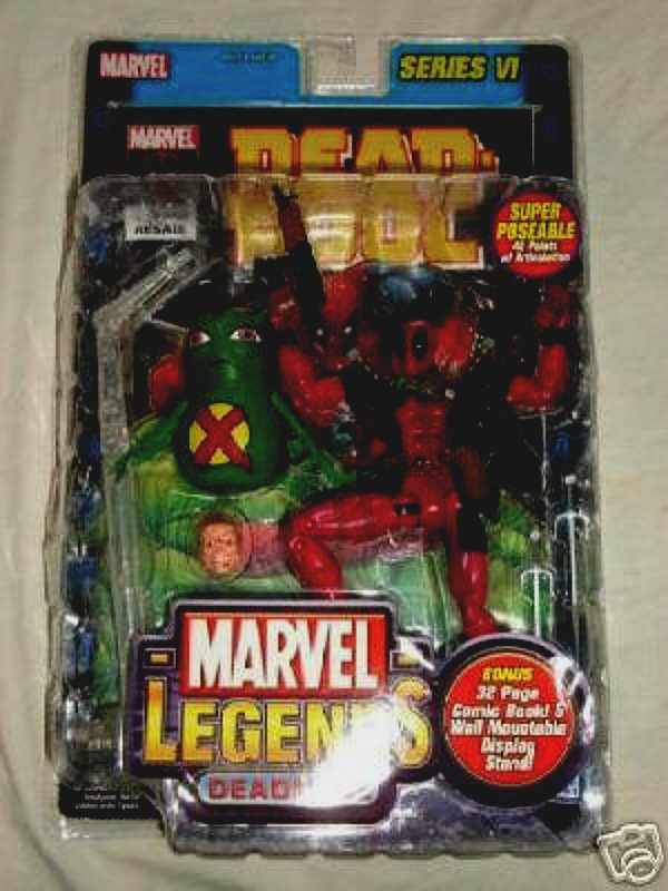 "Toybiz Marvel Legends Series VI: Deadpool (2004) + X-Force Doop � X-men 6"" Action Figure"