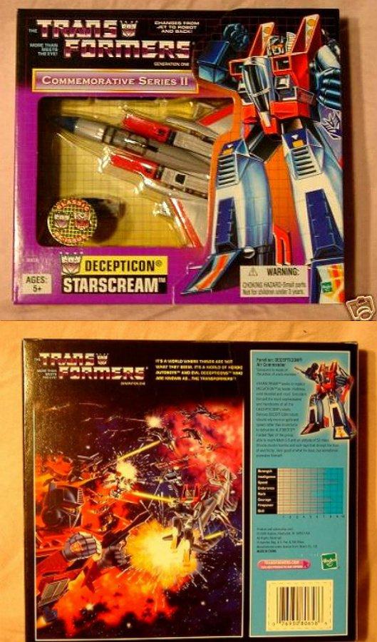 Transformers G1 Starscream MISB 1984 Vintage AFA Reissue TRU Exclusive 2002 [Decepticon Jet]