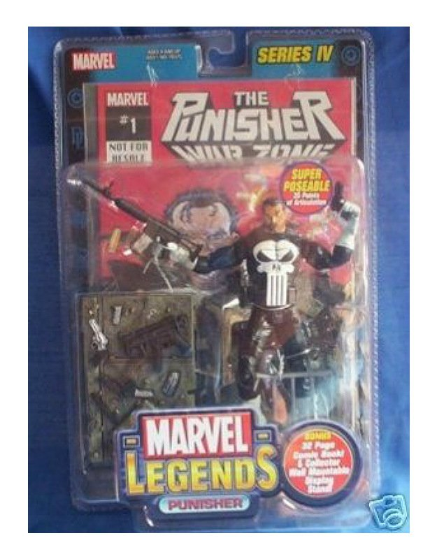 "Classic Punisher 1/12 Marvel Legends Series IV 4 Toybiz #70378 6"" Action Figure"