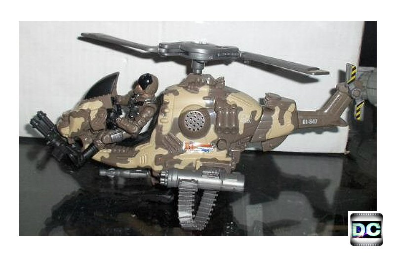 Gi Joe Tiger Force Wild Bill v8 Pilot + helicopter Cobra Fang Redeco 2004 {25th POC 1:18 BBI Elite}