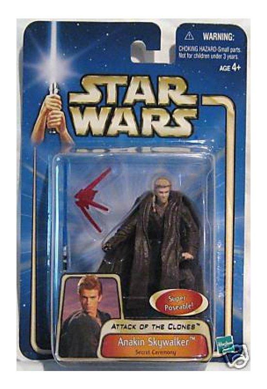 "Hasbro Saga 84927 Anakin Skywalker (Secret Ceremony) Star Wars AotC 2003 MOC 3.75"" Action Figure"