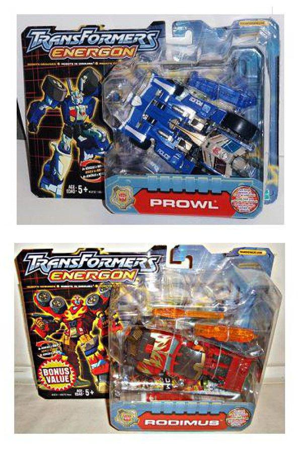 2003 Transformers Energon/Superlink: RID Rodimus & Prowl Combiner Powerlinx Set Hasbro MISB