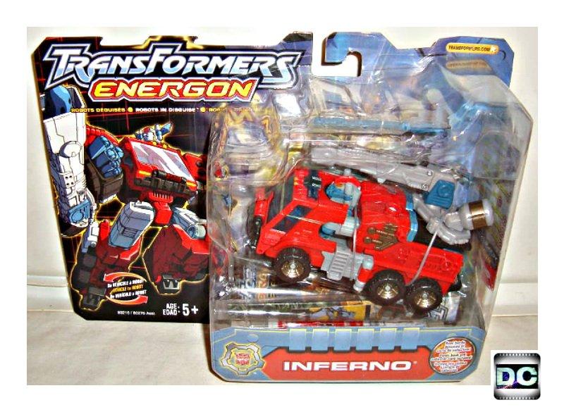 Transformers Energon (2003) - Autobot Inferno, Deluxe Hasbro Robot in Disguise