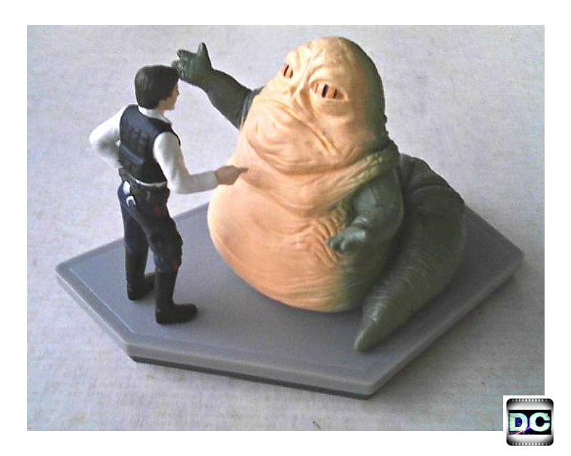 Disney Han Solo/Jabba the Hutt (Star Wars:ANH) Figurine Statue Diorama � Wedding Cake Topper Set
