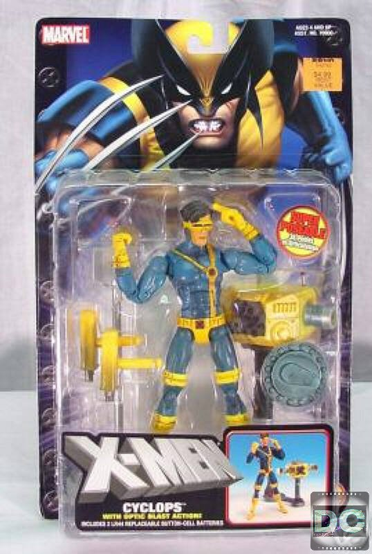 "X-Men Jim Lee Cyclops Marvel Legends Classics 6"" AF Optic Blast Toybiz 2004 Danger Room 70902"