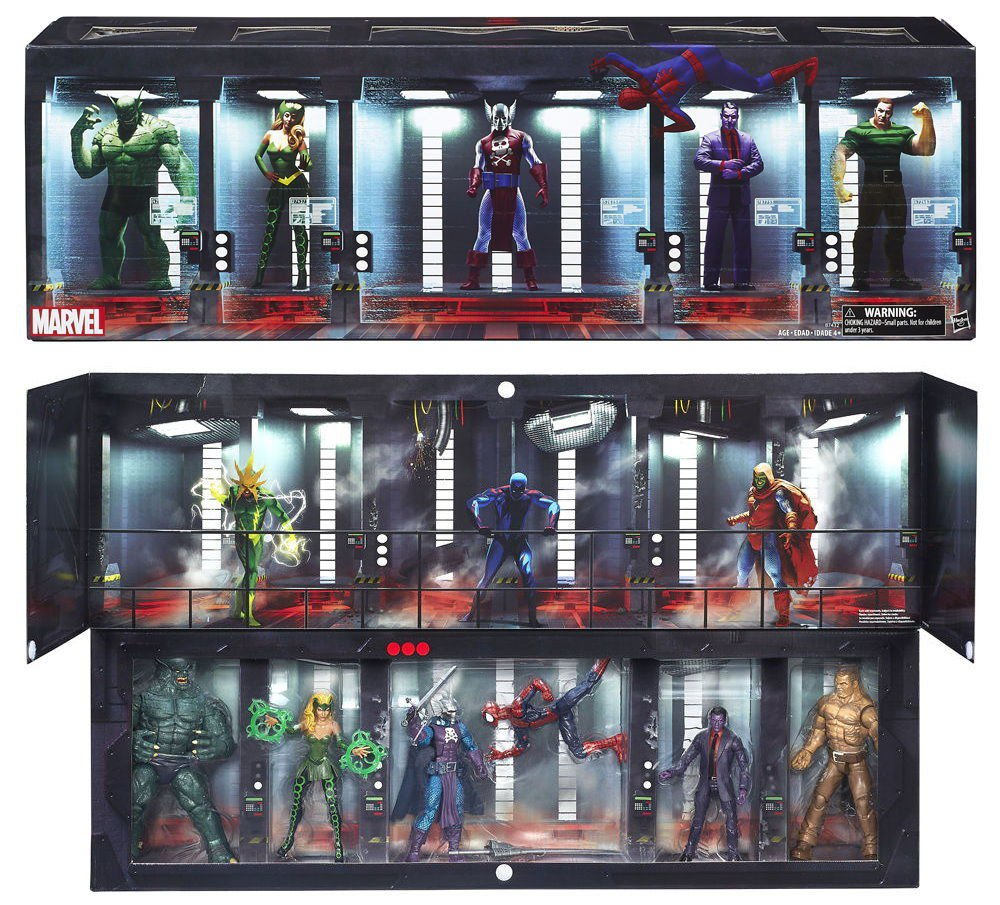 Marvel Legends 6-Pack Set B7431 The Raft McFarlane Pizza Spider-Man-DreadKnight-Purple Man 2016 SDCC