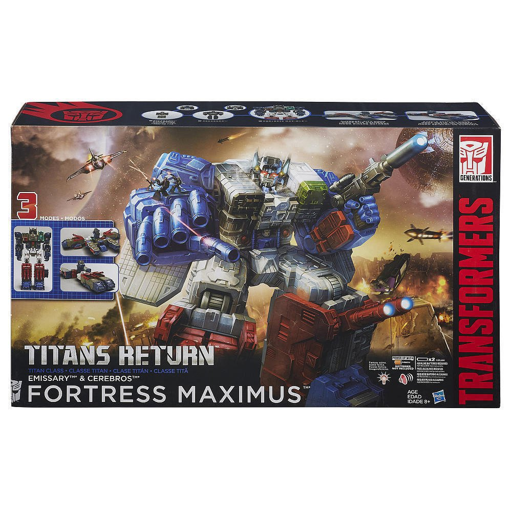 Hasbro 42435 Fortress Maximus Titans Return Transformers Generations G1 Headmaster w/ Cerebro
