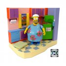 "Simpsons Family Kitchen Playset Interactive Environment + Muumuu Homer 5"" Figure Set Playmates Toys"