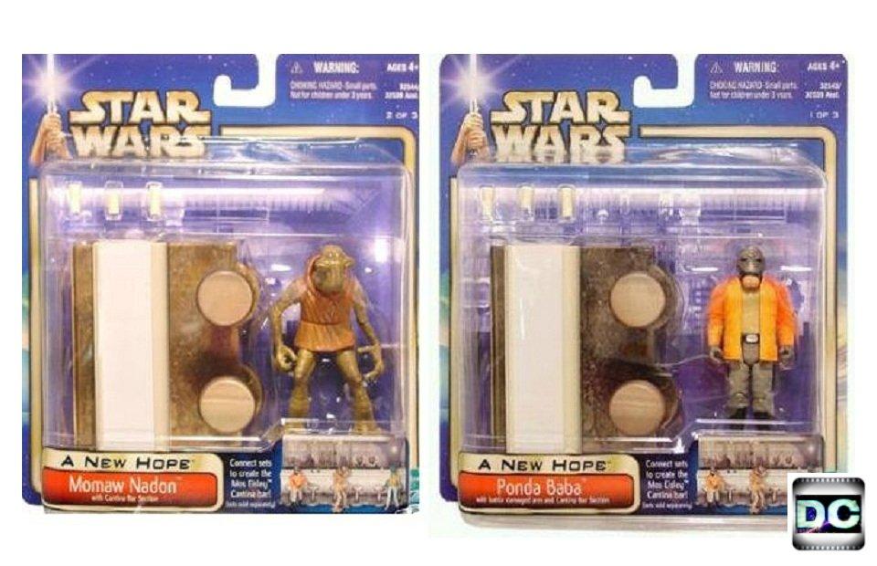 "Star Wars Mos Eisley Cantina Scene Set ANH Saga 02 Hammerhead & Walrus Man 3.75"" Walmart"