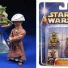 """Yoda & Chian Jedi Lightsaber Padawan Training-Star Wars AOTC Saga 2003 Hasbro 3.75"""" 2-Pack"""