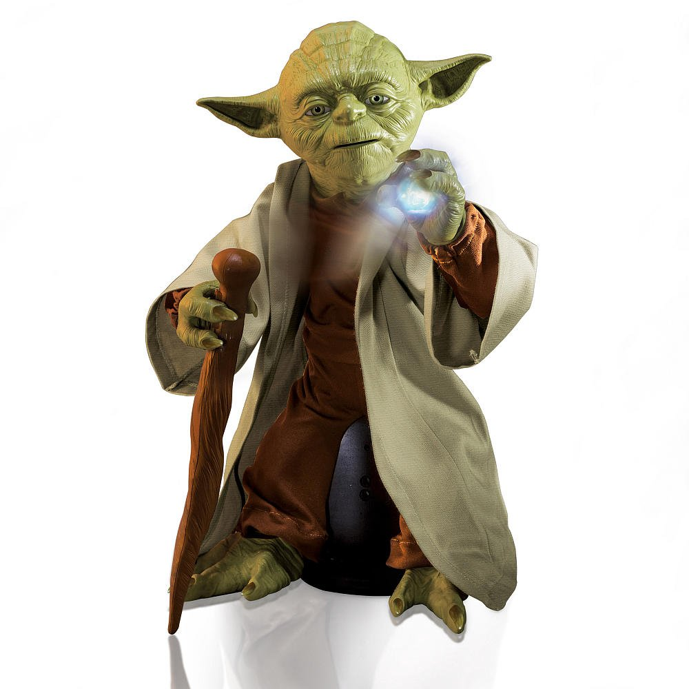 "Legendary Yoda 16"" Interactive Talking Figure + Jedi Lightsaber: Star Wars Spin Master Toy 2015"