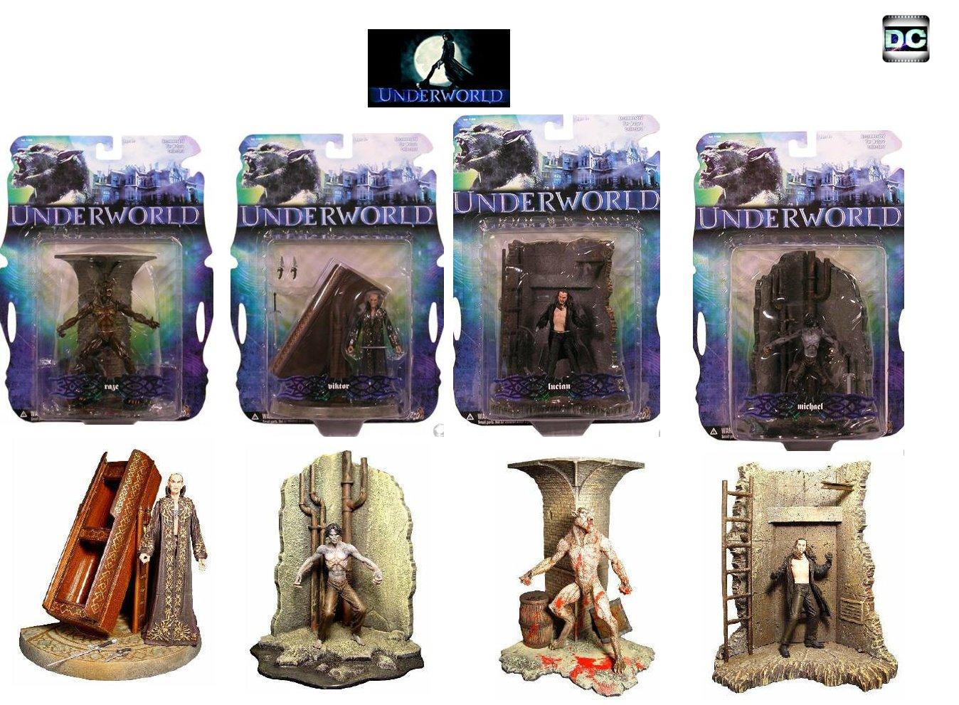 Underworld (2003) Mezco Action Figure Set Vampire Werewolf Lycan {Goth, The Originals}