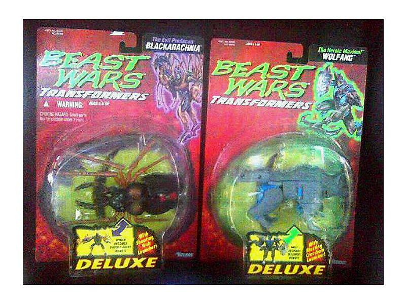 Beast Wars Transformers Deluxe 2 Figure Set MOC, Original Hasbro Kenner 1996 MOSC