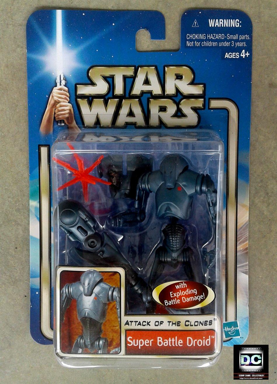 Hasbro Star Wars #84853: Super Battle Droid [1st Day Variant] -- AotC Saga 2002, Clone Separatist