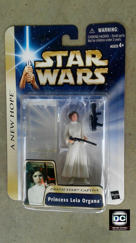 Hasbro 85110: (Star Wars: ANH) Saga Princess Leia (Death Star Captive) 2004, Carrie Fisher MOC
